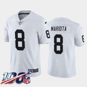 Raiders Marcus Mariota White Jersey
